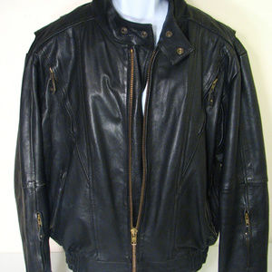 Other - Leather Motercycle Jacket Heavy Duty
